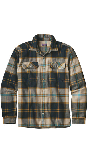 Patagonia M's Fjord LS Flannel Shirt Sugar Pine: El Cap Khaki